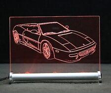 Ferrari F355 Spider als Gravur auf LED Leuchtschild 355