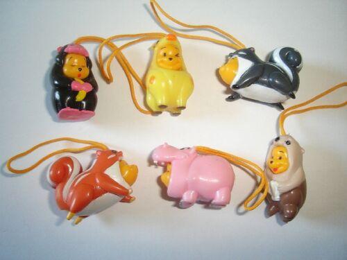FIGURES COLLECTIBLES DISNEY WINNIE THE POOH ANIMALS WEAR 9 FIGURINES SET TOMY