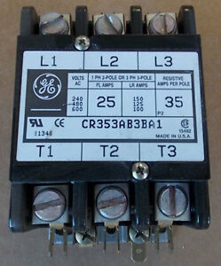 General Electric CR353AB3BA1 3P 25A 120V Coil Magnetic
