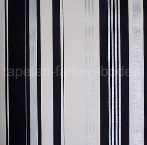 Streifen Tapete - Schwarz, Silber, Weiß - Rasch 882308 - NEU | eBay