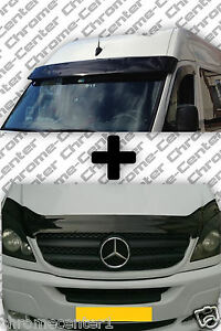 Mercedes sprinter w906 sun visor and bug guard solid black for Mercedes benz sprinter sun visor