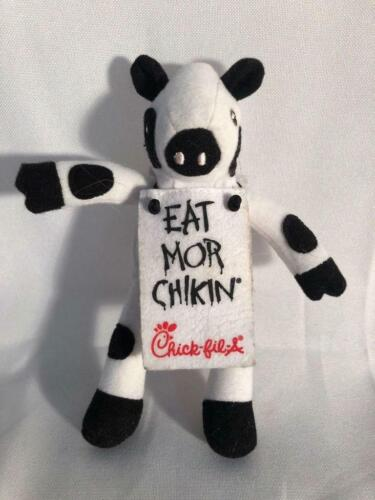 """Chick-fil-A Cow Plush Eat Mor Chikin More Chicken Small Stuffed Cow 6/"""" Sitting"""