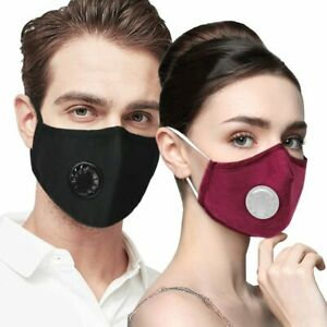 Washable Anti Fog Haze Face Mouth Cover Protective Respirator With Filter Pad Ebay