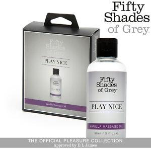 Fifty Shades of Grey Play Nice Romantico Olio da Massaggio Erotico Vaniglia 90ml