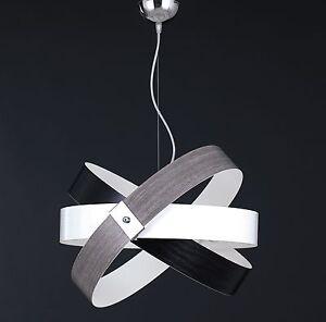 Caricamento dell\u0027immagine in corso Sospensione,lampadario,moderno,effetto, legno,cromato,cerchi,COLORI,
