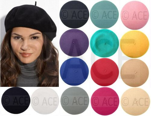 Ladies Beret Womens Beanies Women Beanie Hats French Wool Winter Warm BERET HAT