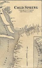 Cold Spring Huntington Bay Northport Halesite NY 1873 Map with Homeowners Names