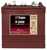 Battery Trojan T-605 6v 210 Ah Deep Cycle. 20 Hr. Rate Signiture Line Each