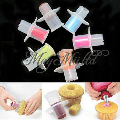 Kitchen Cupcake Cake Corer Plunger Cutter Pastry Decorating Divider Filler J