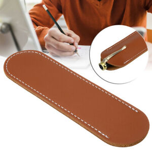 Brown-Leather-Handcrafted-Single-Pen-Pencil-Bag-Holder-Storage-Sleeve-Pouch-Gift