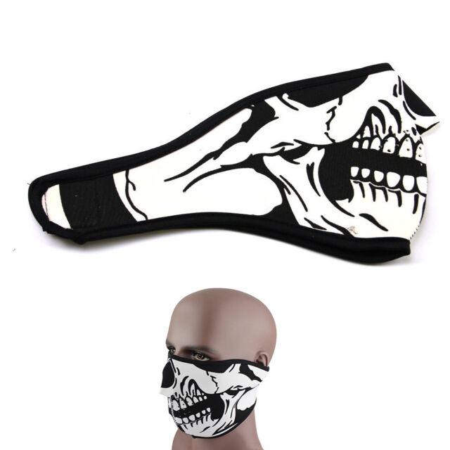Skull Neoprene Half Face Mask Sport Ski Snowboard Motorcycle Bike Protection USA