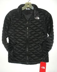 6d82742b1a19 THE NORTH FACE GIRLS -YOUTH THERMOBALL FULL ZIP JACKET- TNF BLACK ...