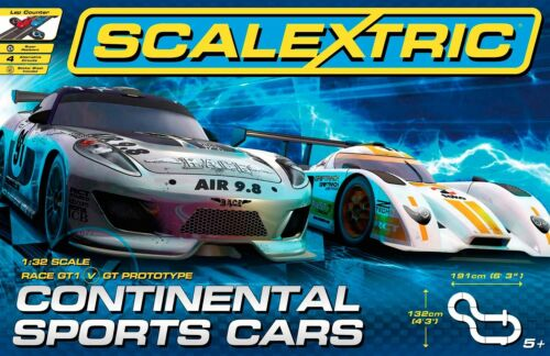 LIMA PISTA SCALEXTRIC CONTINENTAL SPORTS CARS OTTIMA IDEA REGALO SCALETRIX