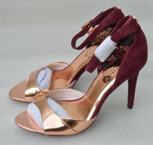Ted Baker London Ankle Strap Heeled Sandal ROSE GOLD High Heels