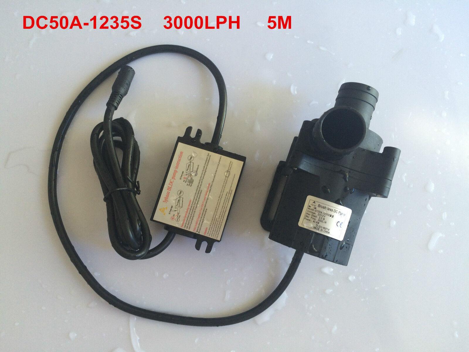 5-12 V Micro Agua Caliente Bomba de circulación sin escobillas 3.5 M 3000LPH, Bomba Sumergible