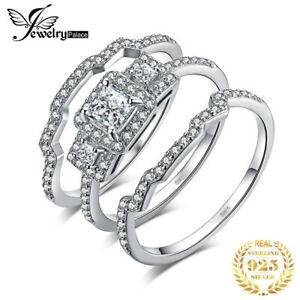 JewelryPalace-Cubic-Zirconia-Anniversary-Wedding-Sets-925-Sterling-Silver