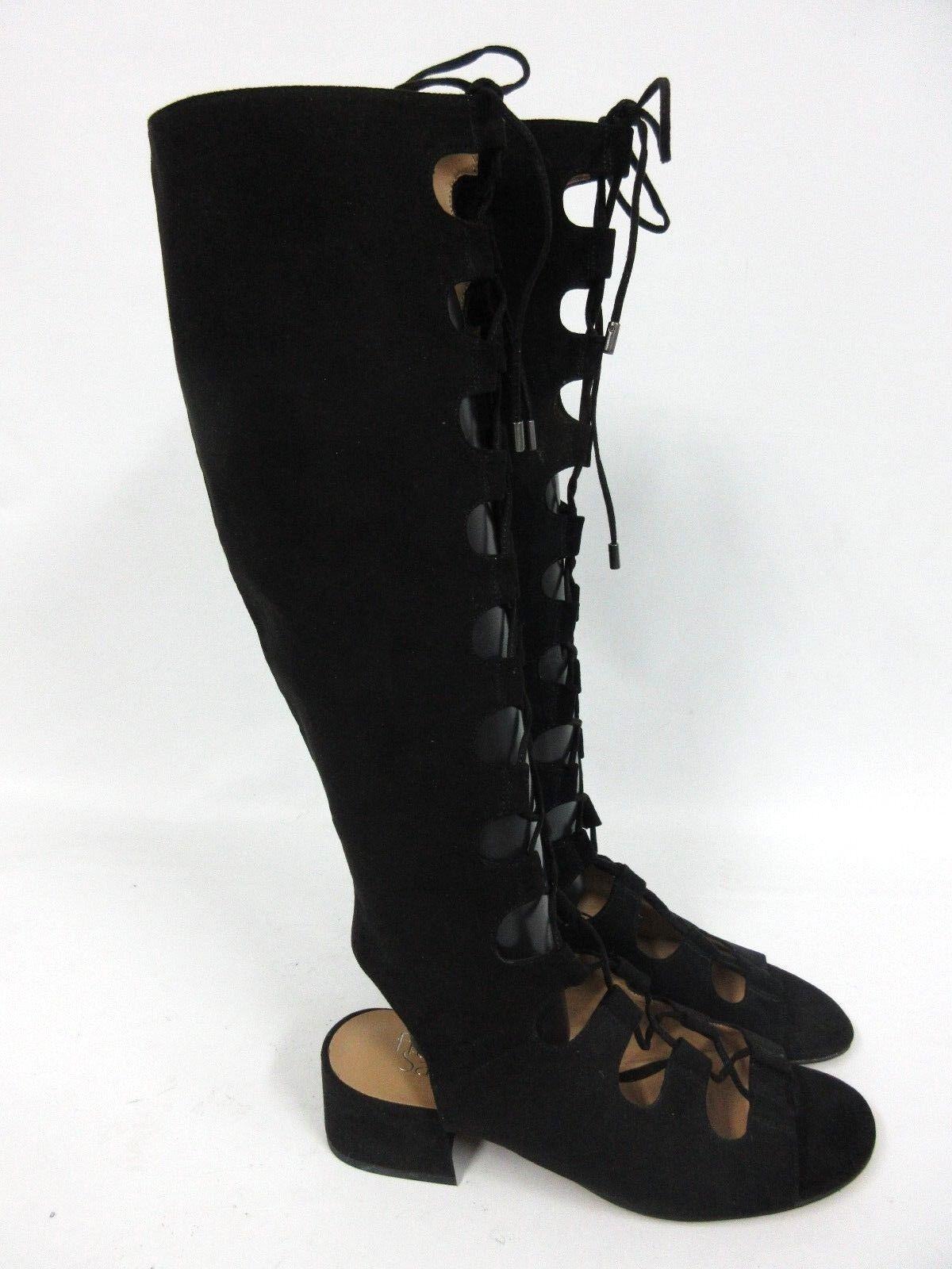 NEU Franco Sarto Damen Trystin hoch Gladiator Sandale schwarz Größe: 8M