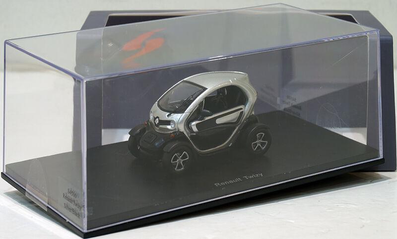 Envio gratis en todas las ordenes Spark 1 43 Renault Twizy Plata Plata Plata Negro S4500  venta mundialmente famosa en línea