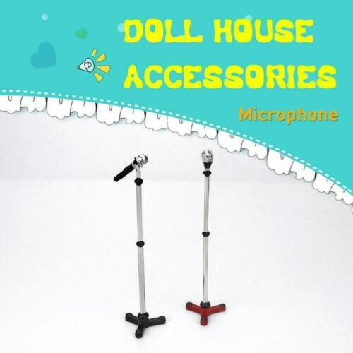 1//12 Dollhouse Miniature Accessories Mini microphone Houses Doll T9B6