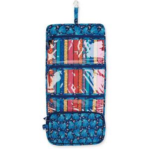 Laurel-Burch-Indigo-Cats-Blue-Quilted-Toiletry-Makeup-Cosmetic-Travel-Organizer