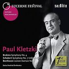 """Brahms: Symphony No. 4; Schubert: Symphony No. 7 """"Unfinished""""; Beethoven: Leonore Overture No. 3 (CD, May-2016, Audite)"""