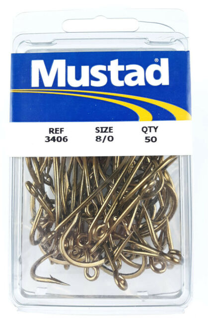 2//0 Mustad 3407 Classic O/'Shaughnessy Forged Hook Pack of 100 NEW Fishing Hooks