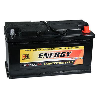 Solarbatterie 100Ah 110Ah Boots Wohnmobil Solar Caravan Versorgungs Batterie NEU