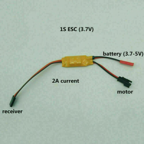 Two-way Brushed ESC Speed Controller for RC Car Boat Tank 280 370 Motor