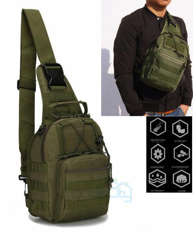 Men Tactical Military Messenger Shoulder Bag Sling Waterproof Chest Bag Outdoor
