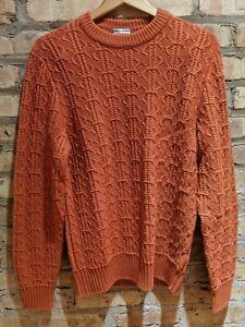 Nwt Brioni Cable Knit Crewneck Sweater Burnt Orange Men S Size 46 Small 975 Ebay