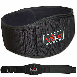 VELO-Weight-Lifting-Belt-Neoprene-Gym-Fitness-Workout-Double-Support-Brace
