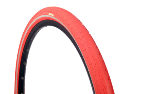 1 OF COLOURED 700 X 38 TYRE TIRE RED W REFLECTOR PUNCTURE PROT. 29ER x 1.50