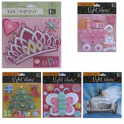 K&CO Light Ideas LIGHT UP 3D Stickers Variations Dimensional Scrapbooking Cards