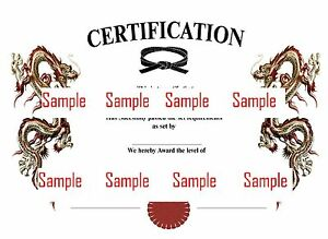 image is loading martial arts certificate templates cd to use customise - Martial Arts Certificate Template