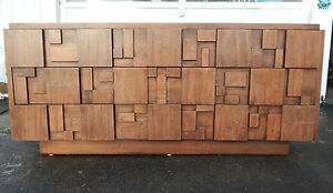 Image Is Loading Mid Century Modern Lane Brutalist Nine Drawer Dresser