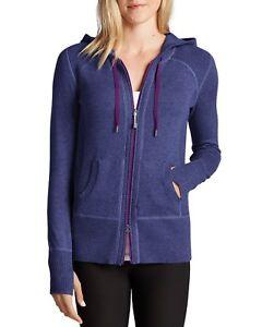 dae50796a850e EDDIE BAUER Women s Engage Full Zip Hoodie Sweater XS Purple Htr NEW ...