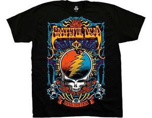 Dead oficial camiseta roba Grateful Rock Trippy Licencia tu xS8wZECwq