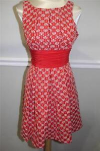 Frock-by-Tracy-Reese-orange-and-white-EBMROIDERY-dress-size-6-DR-1000