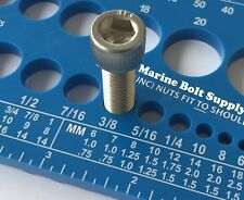 Screw Bolt Nut Thread Measure Gauge Size Checker (Standard & Metric) Color: Blue