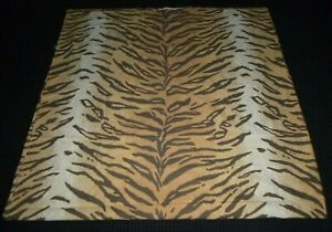 Ralph Lauren Beckett Tiger Print Sheet 100% Cotton Rare Pattern ***DAMAGED