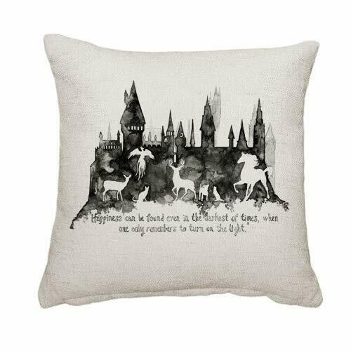 Harry Potter Happiness can be found even in the darkest Cushion with Insert