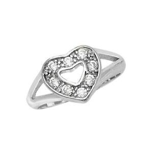 925 Sterling Silver Open Heart Ring