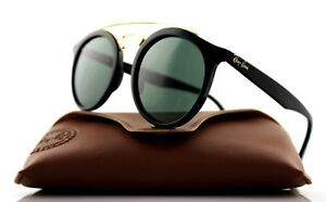 NEW-Authentic-Ray-Ban-GATSBY-I-Black-Green-Classic-Sunglasses-RB-4256-601-71