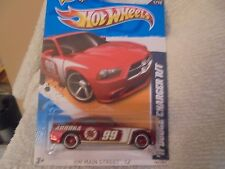 "2012 HW Super Treasure Hunt Series {""DK Red"" 2011 Dodge Charger R/T} RR Wh"