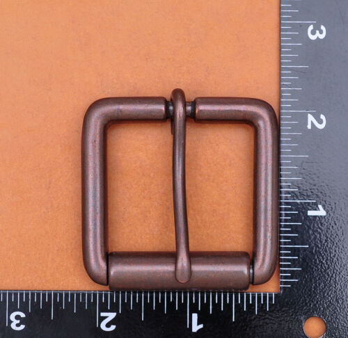 High Quaility Antique Copper Square Prong Pin Roller Belt Buckle for 40mm Belts