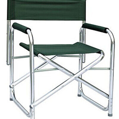 New Folding Directors Chair Fishing Camping Outdoor Garden Padded Arms Green