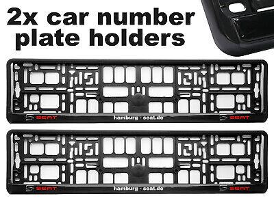 2x Embutidores en autos de la placa de soporte envolvente Marcos mejor ajuste Racing Para Volkswagen