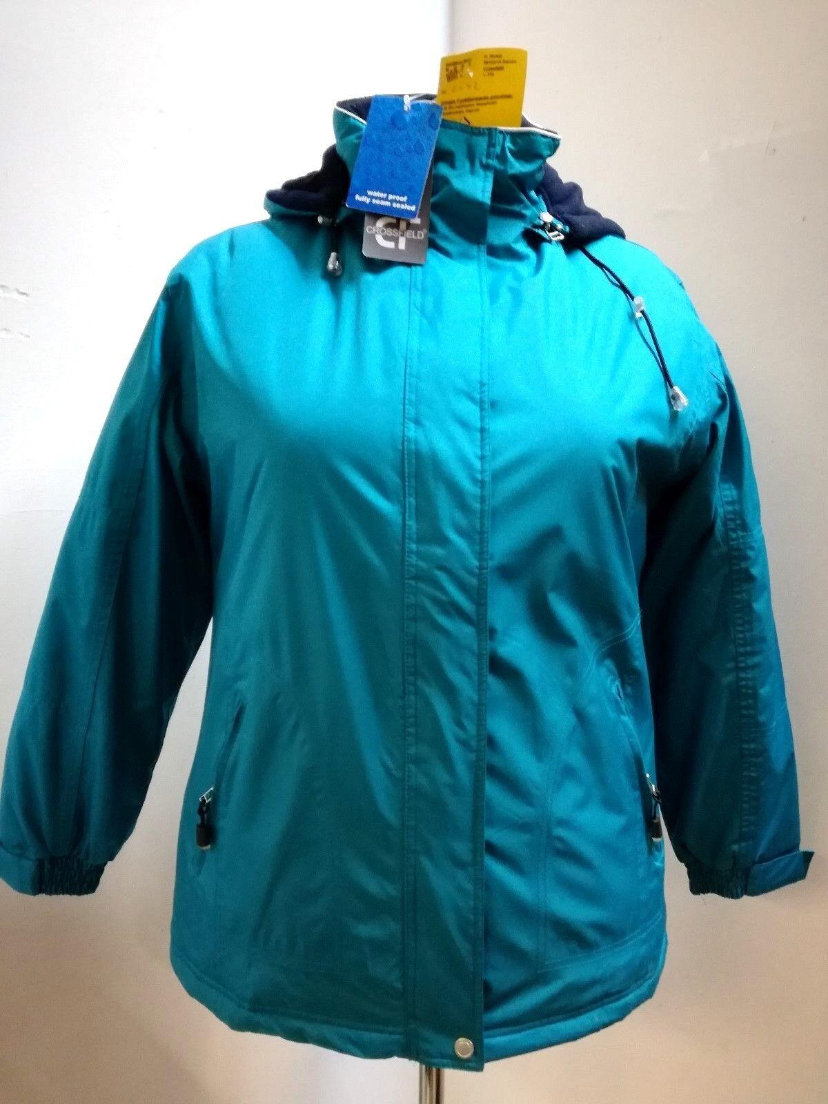 Damen-Jacke petrol marine 42, Steppfutter, Kapuze abnehmbar, 4 Taschen, 30° Wä