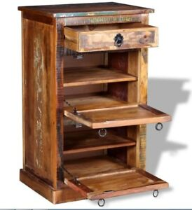 Image Is Loading Rustic Shoe Cabinet Vintage Industrial Furniture Solid Wood
