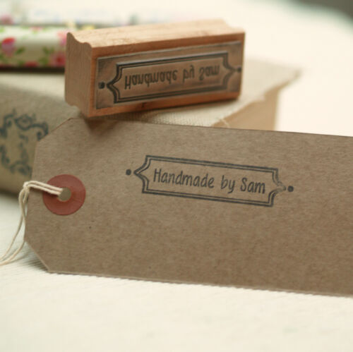 Personalised /'Handmade by/' rubber stamp